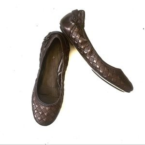Cole Haan Brown Eliza Nike Air Quilted Ballet Flat